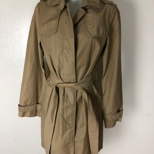 Gap Small Tan Trench Jacket With Belt